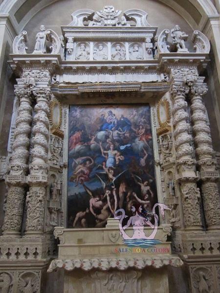 L'interno della chiesa matrice dedicata a M. SS. Annunziata a Casarano (provincia di Lecce), Altare della Madonna della Misericordia.