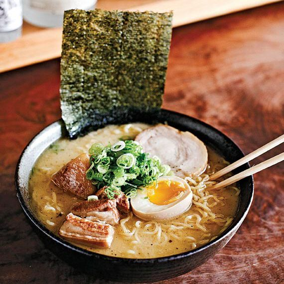 Izakaya Sozai  The noodles are springy and chewy, and the rest is straightforward: pork-based broth, seaweed, green onions, and a soft-boiled egg.