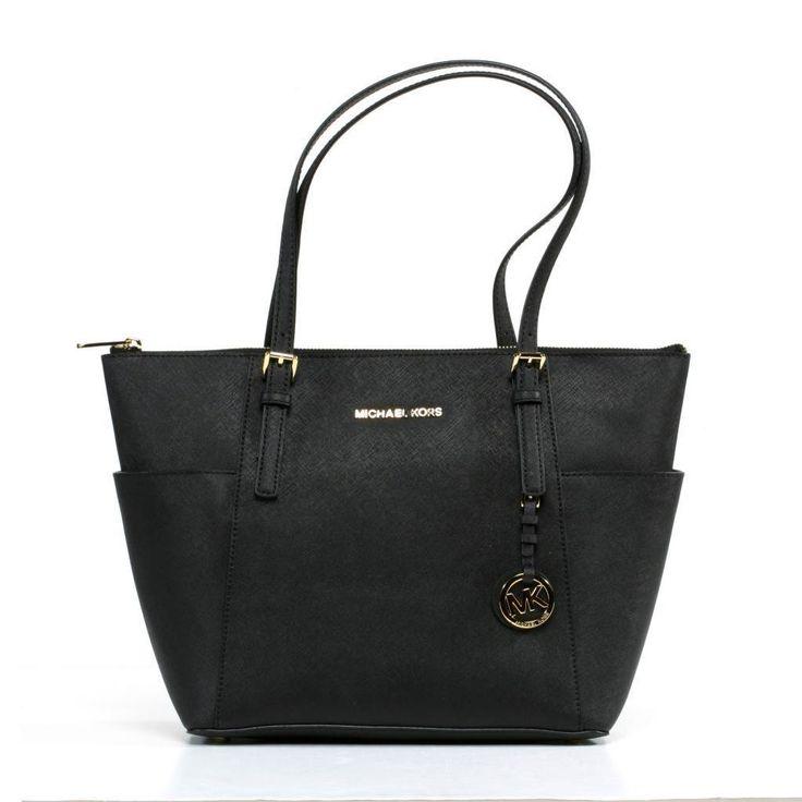 Michael Kors Jet Set Pocketed Top Zip Tote Bag, Women's