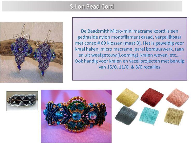De Beadsmith Micro-mini macrame koord is een gedraaide nylon monofilament draad, vergelijkbaar met conso # 69 klossen (maat B). Het is geweldig voor kraal haken, micro macrame, parel borduurwerk, (aan en uit weefgetouw), kralen weven, et cetera. Ook handig voor kralen en vezel projecten met behulp van 15/0, 11/0, & 8/0 rocailles