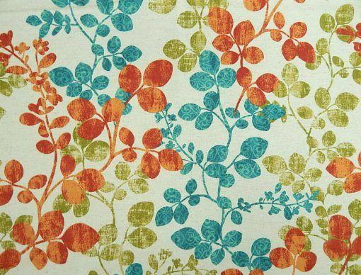 Richloom Fabrics Cabrera Fiesta Teal Fabric Fabric Colorful