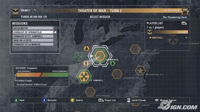 Tom Clancy's End War Map
