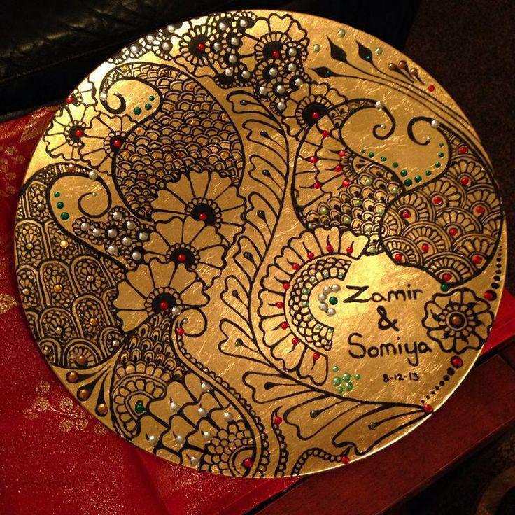 Diy Mehndi Plates : Henna mehndi plate design by zahrah foy