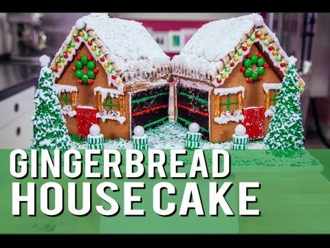 How To Make A Gingerbread House CAKE with chocolate, buttercream, candy ...