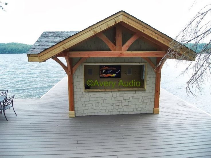 Don't miss the game just because you're at the dock.  Custom built dock bar features URC RF remote controlled audio/video system with Bell HDTV system, Samsung HDTV, Yamaha audio & Niles speakers inside & out.