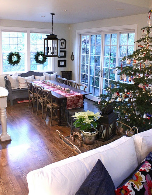 forever cottage: Holiday, Dining Rooms, Window, Living Room, Forever Cottage, Cottages, Light Fixture, Mathis Interiors