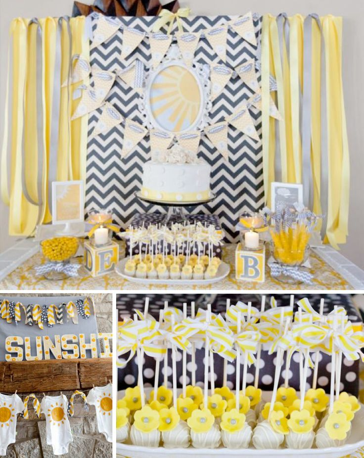 Gender Neutral YOU ARE MY SUNSHINE BABY SHOWER via Karas Party Ideas karaspartyideas.com #sunshine #you #are #my #gender #neutral #baby #shower #party #ideas #birthday #1st