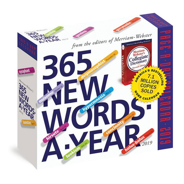 2019 365 New Words A Year Page A Day Calendar New Words Words