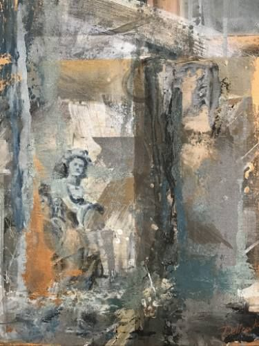 "Saatchi Art Artist Aria Dellcorta; Painting, ""At A Glance"" #art #abstract #saatchiart #new #angel #soul #fineart #painting #artforsale #academicart #originalart @ariadellcorta"