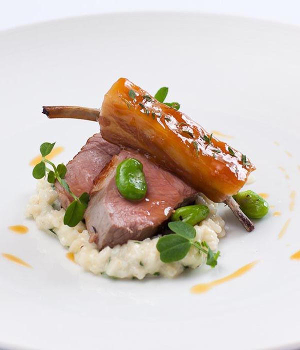 This lamb with wild garlic recipe is at its glorious best during spring, when all of the ingredients are seasonal. With a few tweaks, though, it can be enjoyed all year round. Ask your local butchers for both rump and rib of lamb. - Shaun Rankin