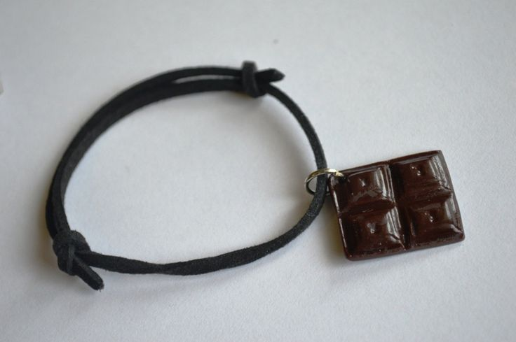 Chocolate bar polymer clay bracelet by ASweetScaleWorld on Etsy