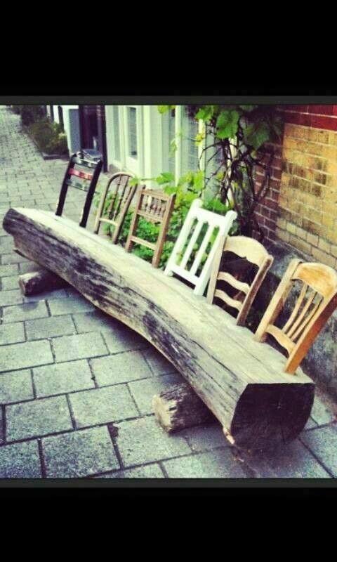 13 Great DIY Log Ideas For Garden