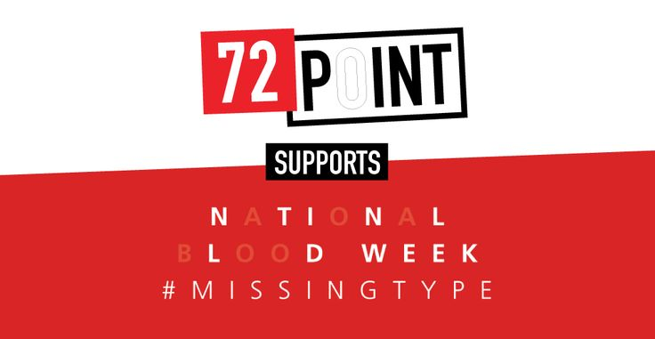 Social media image for 72Point as part of the wider campaign by  Blood Donation UK to get people donating blood #design #graphicdesign #socialmedia #blooddonation #marketing