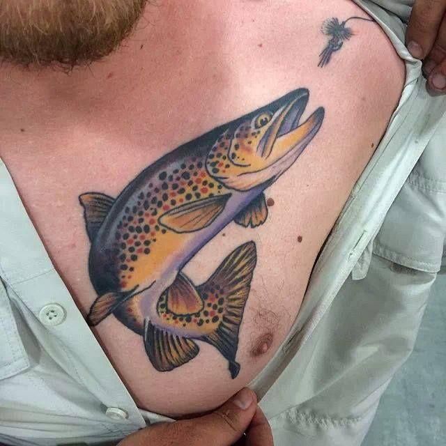 Best 25 trout tattoo ideas on pinterest bear tattoos for Saltwater fishing tattoos