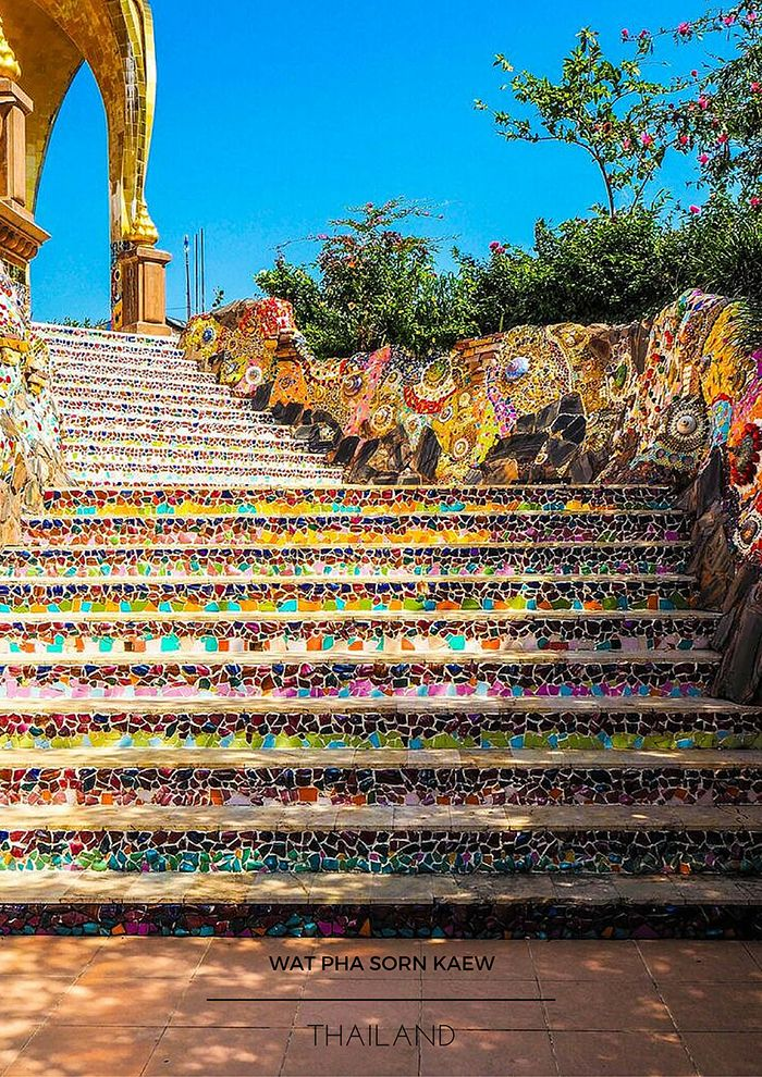 "Wat Pha Sorn Kaew, which means ""temple on a glass cliff,"" can be found on the border of the Phitsanulok and Petchuban provinces. Step into a fairytale and discover the most beautiful temple that I've ever seen."