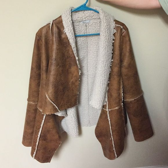 Leather fur jacket Not really urban outfitters just used for exposure!!! Never been worn Urban Outfitters Jackets & Coats