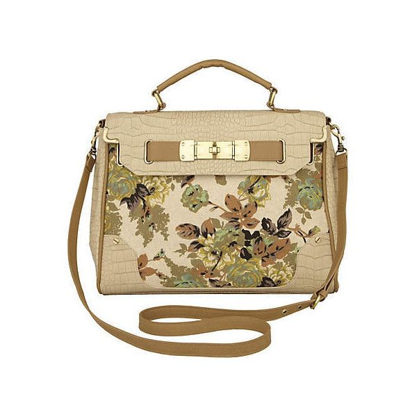 beige print floral canvas bag - shoulder bags - bags / purses - women - River Island