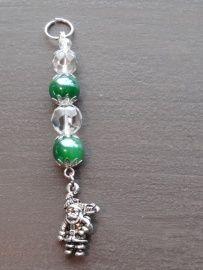 Groene kristal hanger nr 10