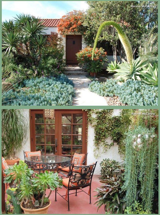 Early California Style  for  Michael McIver's 1929 Spanish Colonial garden.   Found on My Houzz.  Photo by Bonnie McCarthy.