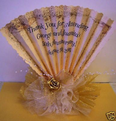50th Wedding Anniversary Centerpiece Favor