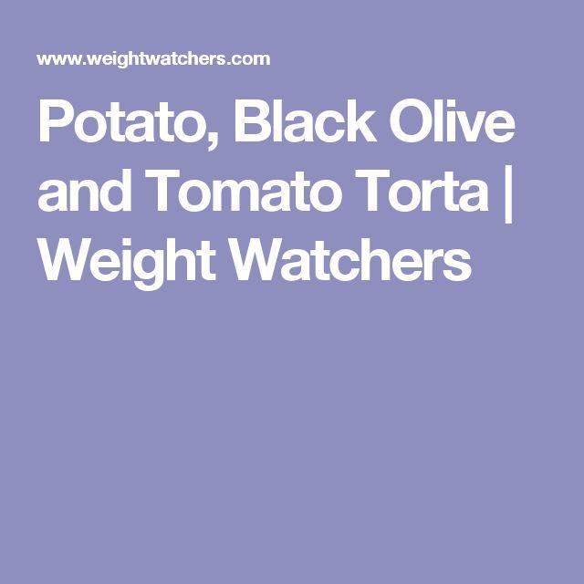 Potato, Black Olive and Tomato Torta | Weight Watchers