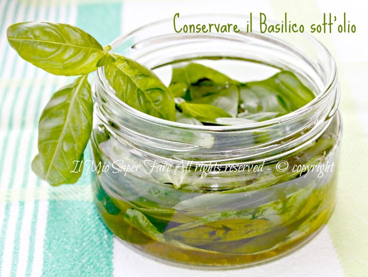 Conservare il basilico in olio | Basilico sott'olio