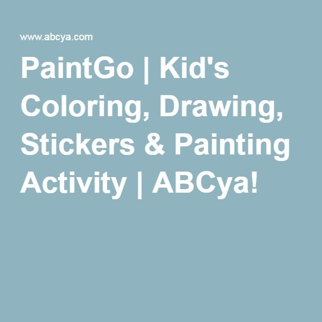 PaintGo | Kid\'s Coloring, Drawing, Stickers & Painting Activity ...