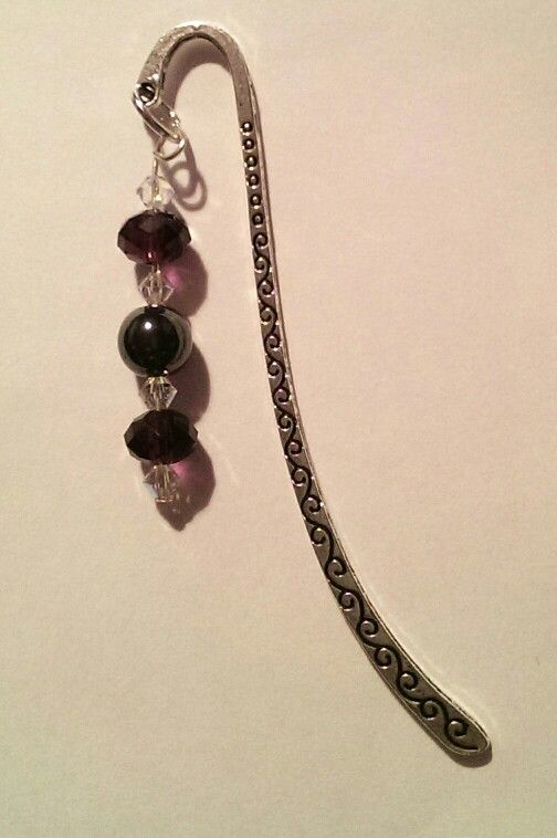 Amethyst Crystal and Hematite Bookmark