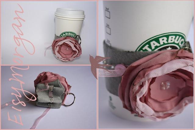 Cute Idea!Coffee Sleeve, Gift Ideas, Sleeve Keys, Handmade Gift, Handmade Crafts, Eisi Morgan, Keys Chains, Handmade Journals, Handmade Jewelry