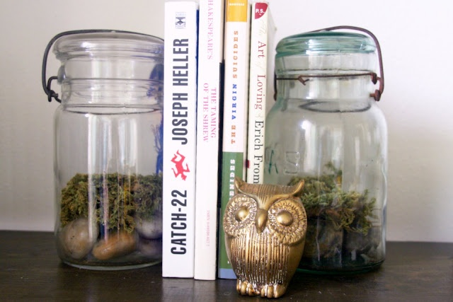 terrarium bookends- something the kids could make for an adult on their list.
