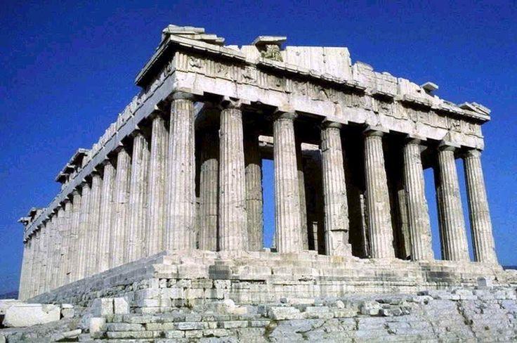 Kallikrates e Iktinos; 447-432 a.C.; marmo pentelico; Atene. Ha stile dorico e presenta proporzioni perfette; è untempio periptero octastilo.