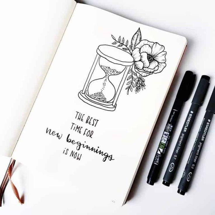 floral bullet journal breitet sich aus