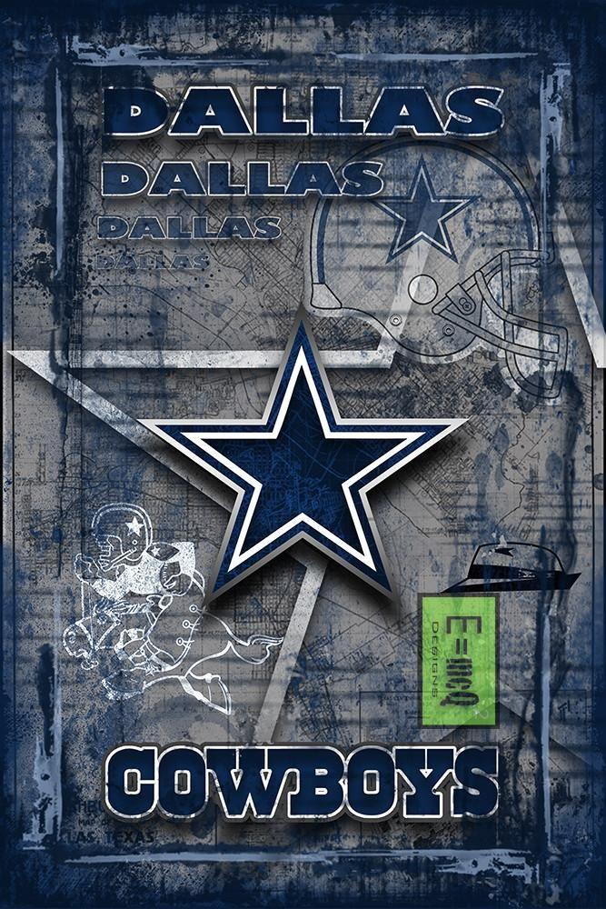 Dallas Cowboys Football Poster, Dallas Cowboys Gift, Dallas Cowboys Map Art, Cowboys Portrait Man Cave