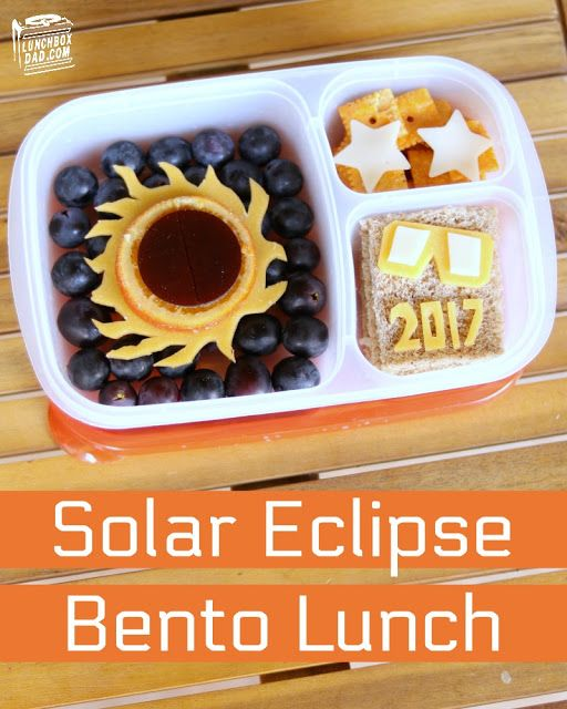 How to make a solar eclipse lunch for your kids!