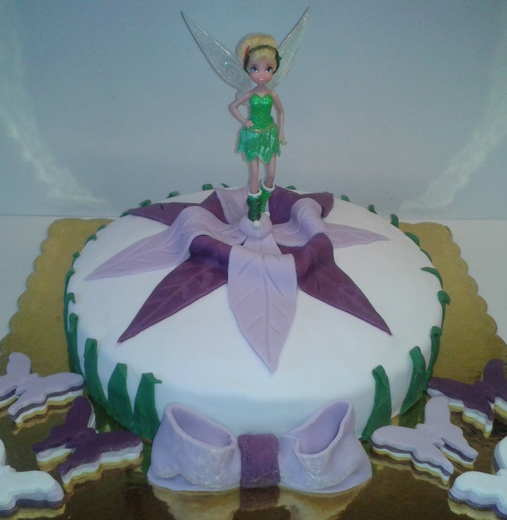 Tinkerbell Cake With Sugar Paste