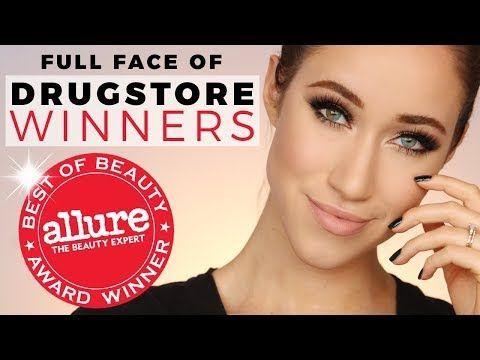 FULL FACE OF DRUGSTORE Allure Best of Beauty Award WINNERS 2017 | ALLIE GLINES - YouTube