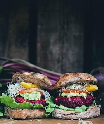 veggie beet burger.