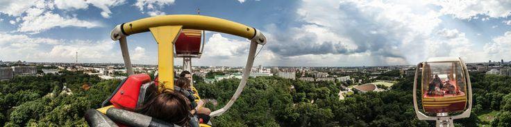 Вид на Минск с колеса обозрения в парке Горького, Minsk, Belarus