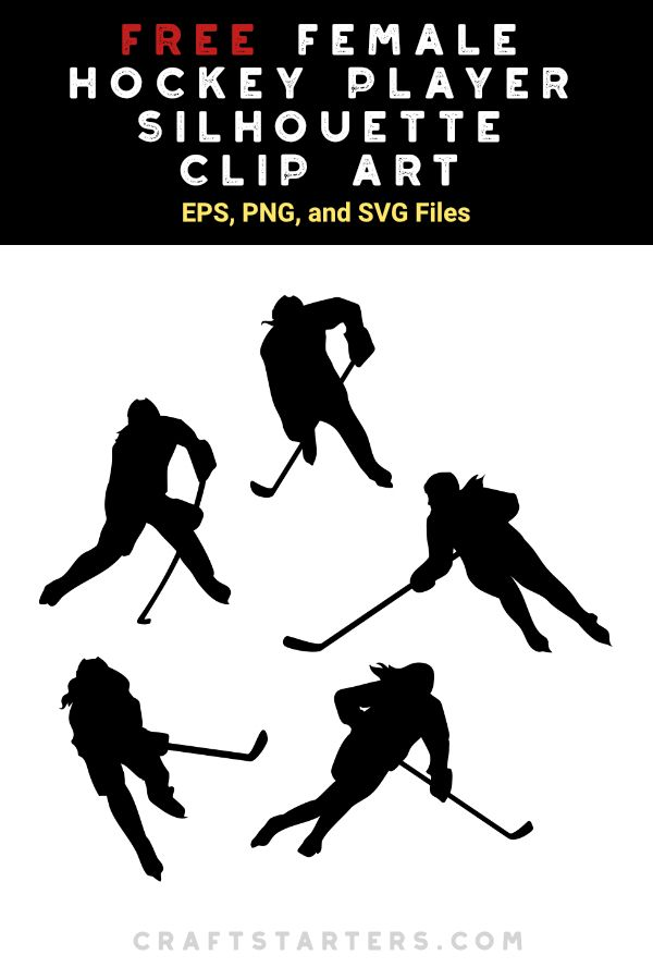 Free Female Hockey Player Silhouette Clip Art Hockey Players Silhouette Clip Art Hockey