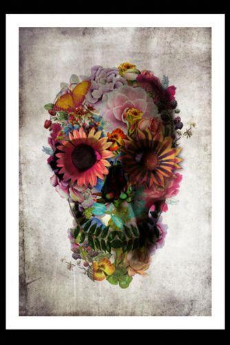 Flower Skull Fine Art Print - £40.00