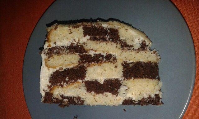 Sakk torta belülről