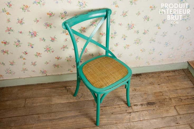 Chaise Pampelune turquoise