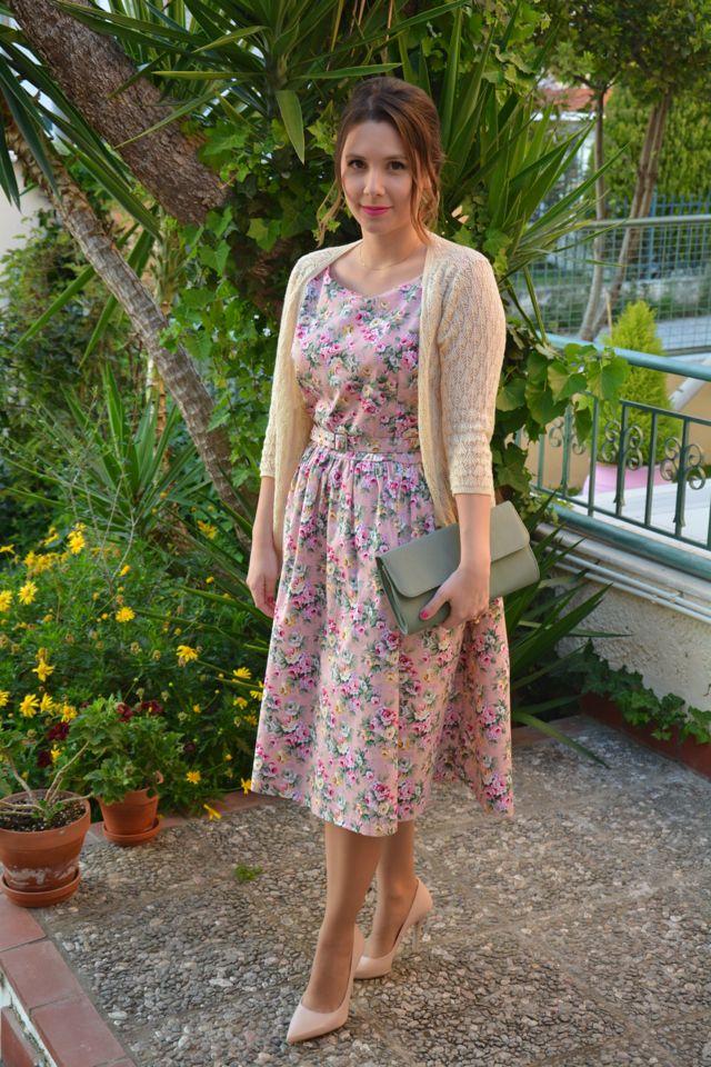 Dress lindy bop cardigan zara clutch bag accessorize for Lindy bop wedding dress
