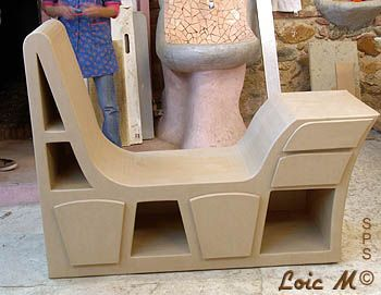 Meuble element de bureau / chaise longue