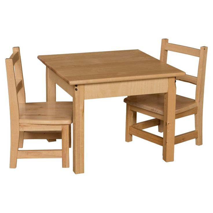 Wood Designs Square Table And Chair Set   WDM255