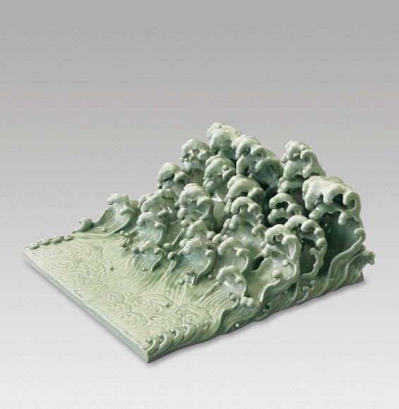 Ai Weiwei, 'The Wave' (porcelain, 2005): Wei Wei, 2005 Porcelain, Aiweiwei, Ai Weiwei, 3D Art, Dark Silence, Ceramics Waves, The Waves, Ceramics Sculpture