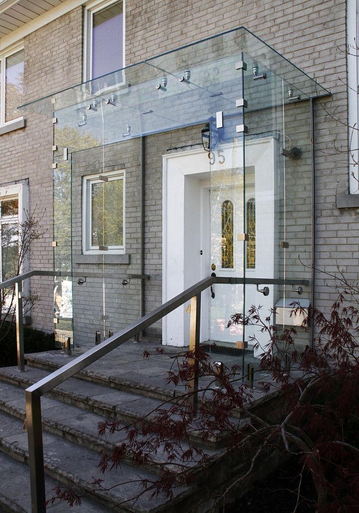 Glass Vestibule Awning New House Ideas House Canopy
