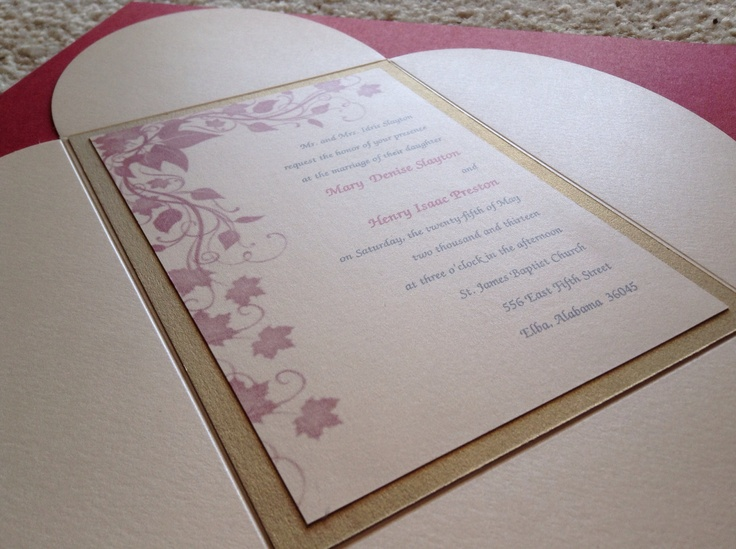 Cream And Gold Wedding Invitations: 17 Best Images About Custom Wedding Invitations On