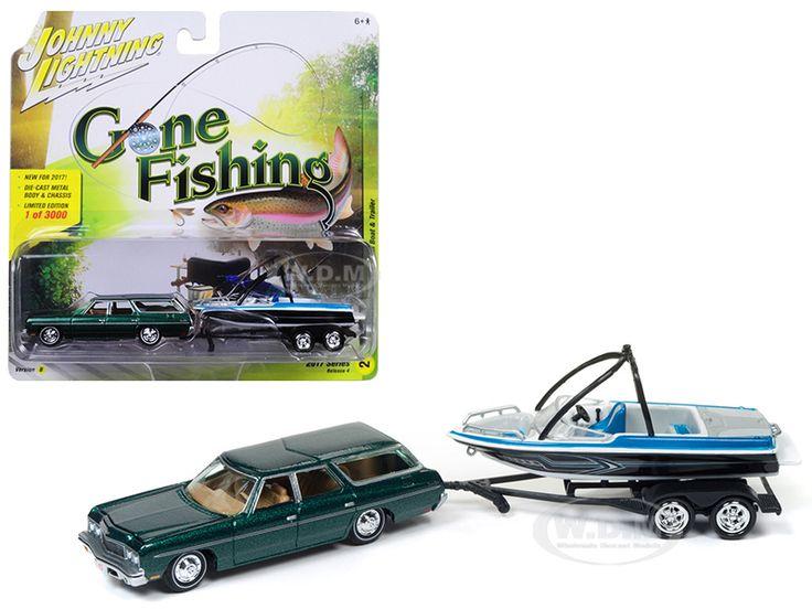 "diecastmodelswholesale - 1973 Chevrolet Caprice Station Wagon Dark Green Poly with Malibu Boat ""Gone Fishing"" 1/64 Diecast Model Car by Johnny Lightning, $13.99 (https://www.diecastmodelswholesale.com/1973-chevrolet-caprice-station-wagon-dark-green-poly-with-malibu-boat-gone-fishing-1-64-diecast-model-car-by-johnny-lightning/)"