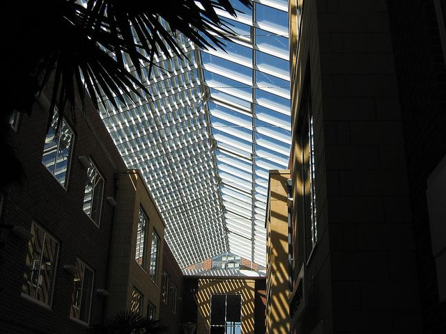 St Crispins Retirement Village Galleria  Curtain walling, rooflight, windows and automatic doors by Duplus Architectural Systems Ltd. Tel 0116 2610 710 or visit www.duplus.co.uk